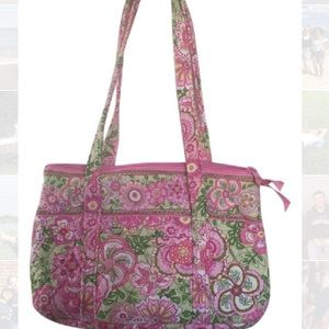 AUTHENTIC Vera Bradley Pink and Green Purse
